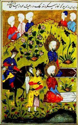 Древний персидский манускрипт с изображнием ирисов 427 года до н.э.